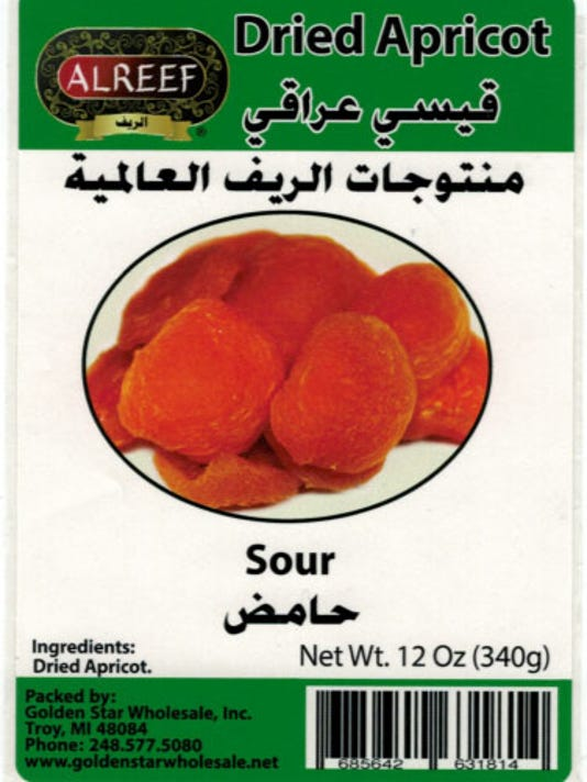 Golden Star Dried Apricots Sour