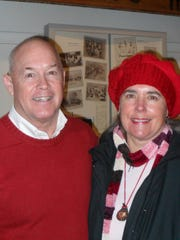 Paul and Jeanne Jones of Redding attend the Behrens-Eaton House Museum's Chautauqua at the Old Shasta Museum on Jan. 15.