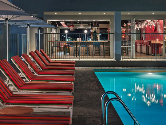 The pool area at the Graduate Tempe hotel.