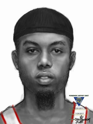 State police say this sketch shows a suspect who robbed a victim at gunpoint in Fairfield on Friday.