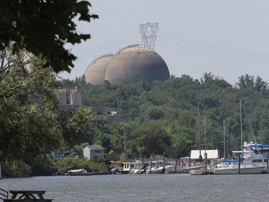 A view of the Indian Point nuclear power plant, from