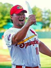 Springfield Cardinals first baseman Luke Voit (18)