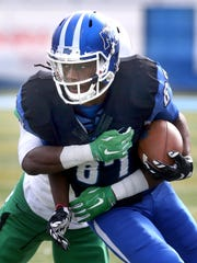Standout receiver Richie James (87) was named to both the all-conference and all-freshman teams.