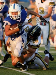 Windthorst's Koy Pennartz had a productive season-opening night, totaling 228 yards rushing and receiving in a loss to Henrietta.