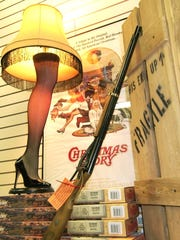 "A Red Ryder BB gun and a leg lamp made famous from the movie ""A Christmas Story"""