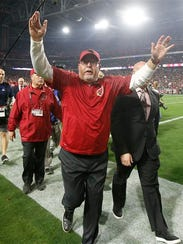 York High grad Bruce Arians retired as the head coach of the Arizona Cardinals after five mostly-successful seasons. AP FILE PHOTO