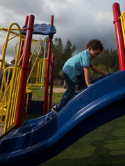 Eyden Pla, 2, of Cape Coral, visited Jaycee Park with
