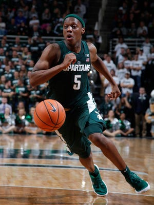Michigan State sophomore Cassius Winston takes over as the Spartans' starting point guard this year. He was already the finishing point guard last year.
