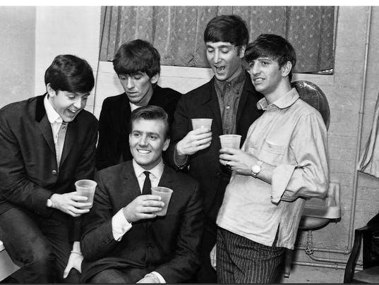 Billy J. Kramer, center, with The Beatles