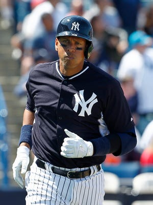 Alex Rodriguez hit his third homer of the spring.
