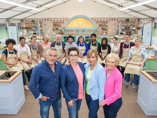 Paul Hollywood, left, Sue Perkins, Mel Giedroyc and