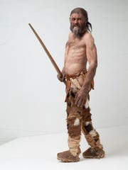 Reconstruction of Otzi, the iceman.