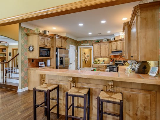 The kitchen at 461 Linton Road.