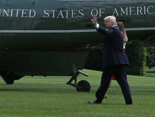 President Trump Departs White House For First Overseas Trip