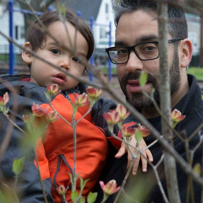 Michael Pagan planted a tree for his son Kai, who is