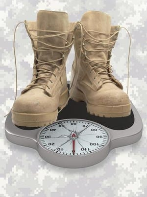 Soldiers' weight.