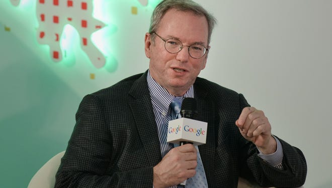 Executive Chairman of Google Eric Schmidt speaks at the Chinese University in Hong Kong on Nov. 4, 2013. Schmidt shared his insight on entrepreneurship and engaged in a conversation with local students and young entrepreneurs.