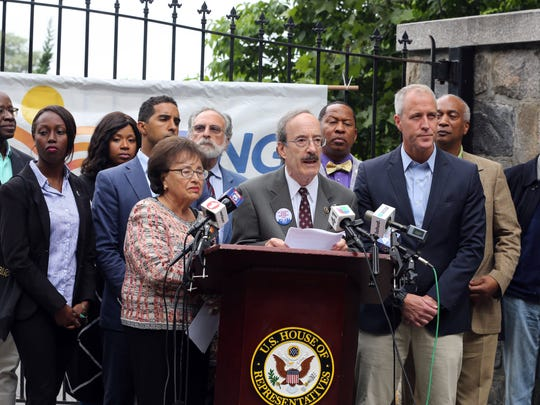Unites States representatives Eliot Engel, Nita Lowey,