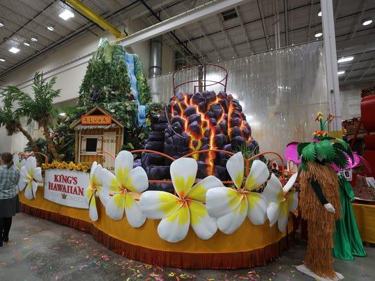 """The new King's Hawaiian float, named """"The Aloha Spirit."""""""