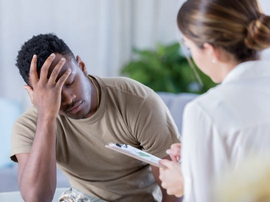 Some veterans may suffer from post-traumatic stress disorder and/or depression. While seeking help can be difficult, those experiencing symptoms of PTSD or depression are encouraged to speak with a healthcare provider to find the best method of treatment for their condition.