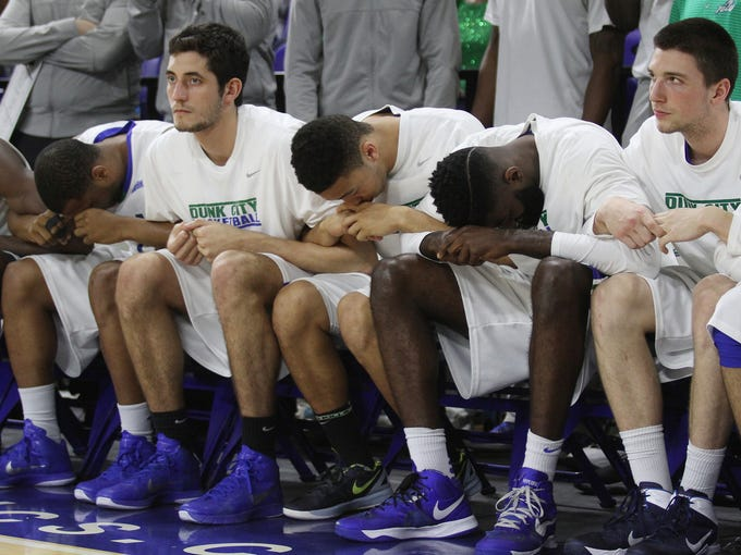 FGCU reacts as they struggle with USC Upstate in the