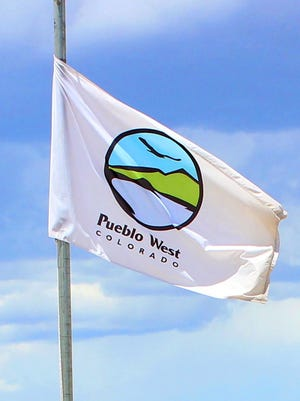 The Pueblo West Metro District logo flag.