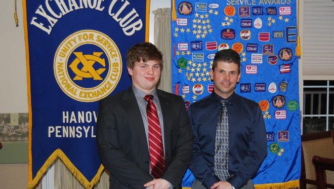 Daniel Coleman, left, is pictured alongside his guidance counselor, Steve Hutton.