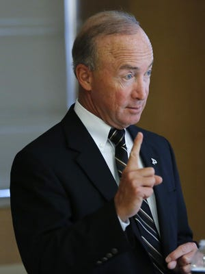 President Mitch Daniels explained his student loan program to Congress on Wednesday.