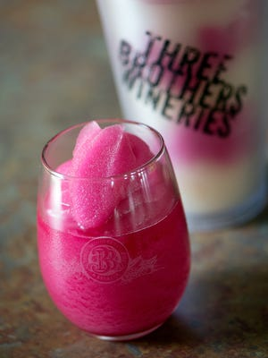 Three Brothers winery offers wine slushies to visitors at the winery in Geneva.