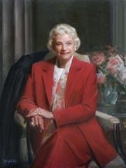 A portrait of Supreme Court Justice Sandra Day O'Connor,