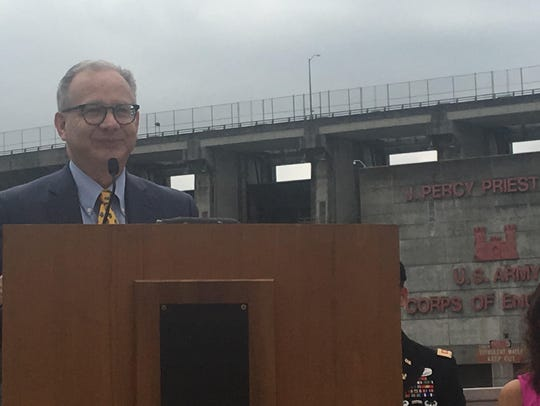 Mayor David Briley speaks at the 50th anniversary of
