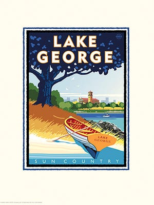 Sun Country Airlines will name one plane in their fleet of 22 after St. Cloud's Lake George. Artist Mark Herman was commissioned to create this promotional artwork as park of the campaign.