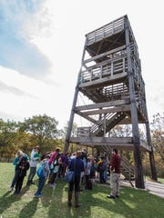 There's an observation tower to climb at the highest