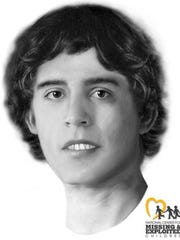 A forensic facial reconstruction sketch of John Doe