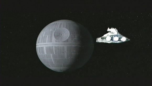 Here's the Death Star in 'Star Wars: Episode IV.'
