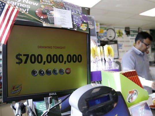 Powerball lottery sign