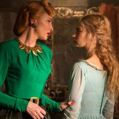 Lily James is Cinderella and Cate Blanchett is her