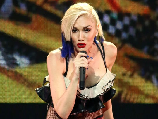 In this Oct. 17, 2015 file photo, Gwen Stefani performs during an exclusive concert in New York.