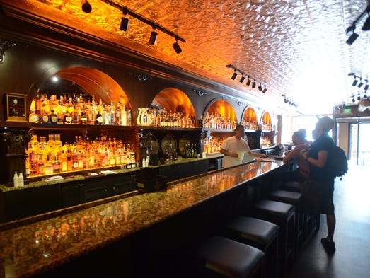 The front bar at The Whiskey bar in Old Town  Monday May 19, 2014.
