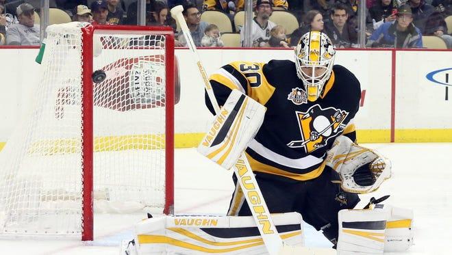 "Penguins goalie Matt Murray is ""week to week"" with a lower-body injury."