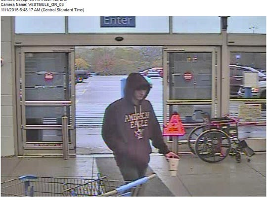 Male suspect wanted in credit card theft by CPD.