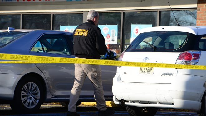 The Paterson police, the Hawthorne Police and Passaic County Sheriff Department investigating a carjacking at the 7-Eleven on on Goffle Road in Hawthorne on Friday,
