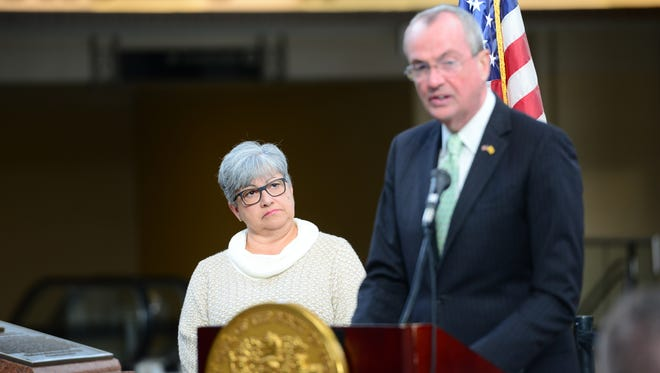 Gov.-elect Phil Murphy announces his nomination of Diane Gutierrez-Scaccetti  to lead the Department of Transportation at Secaucus Junction on Wednesday morning.