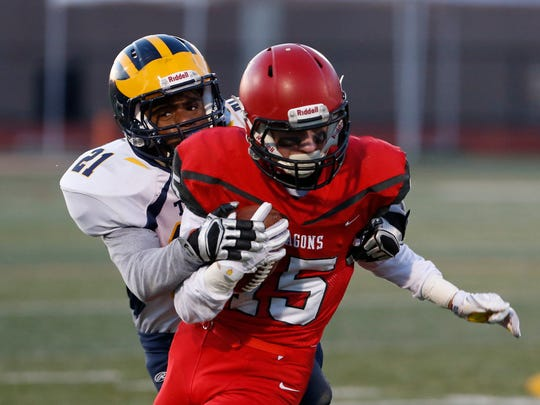 Action from Friday's New York State Class D Football semifinal between Tioga and Maple Grove on November 17, 2017.