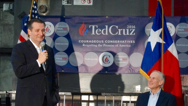 U.S. Sen. Ted Cruz (left) and Gov. Greg Abbott , shown here in Houston in 2016, condemned Sen. Rand Paul's recent experience when he was accosted by demonstrators.