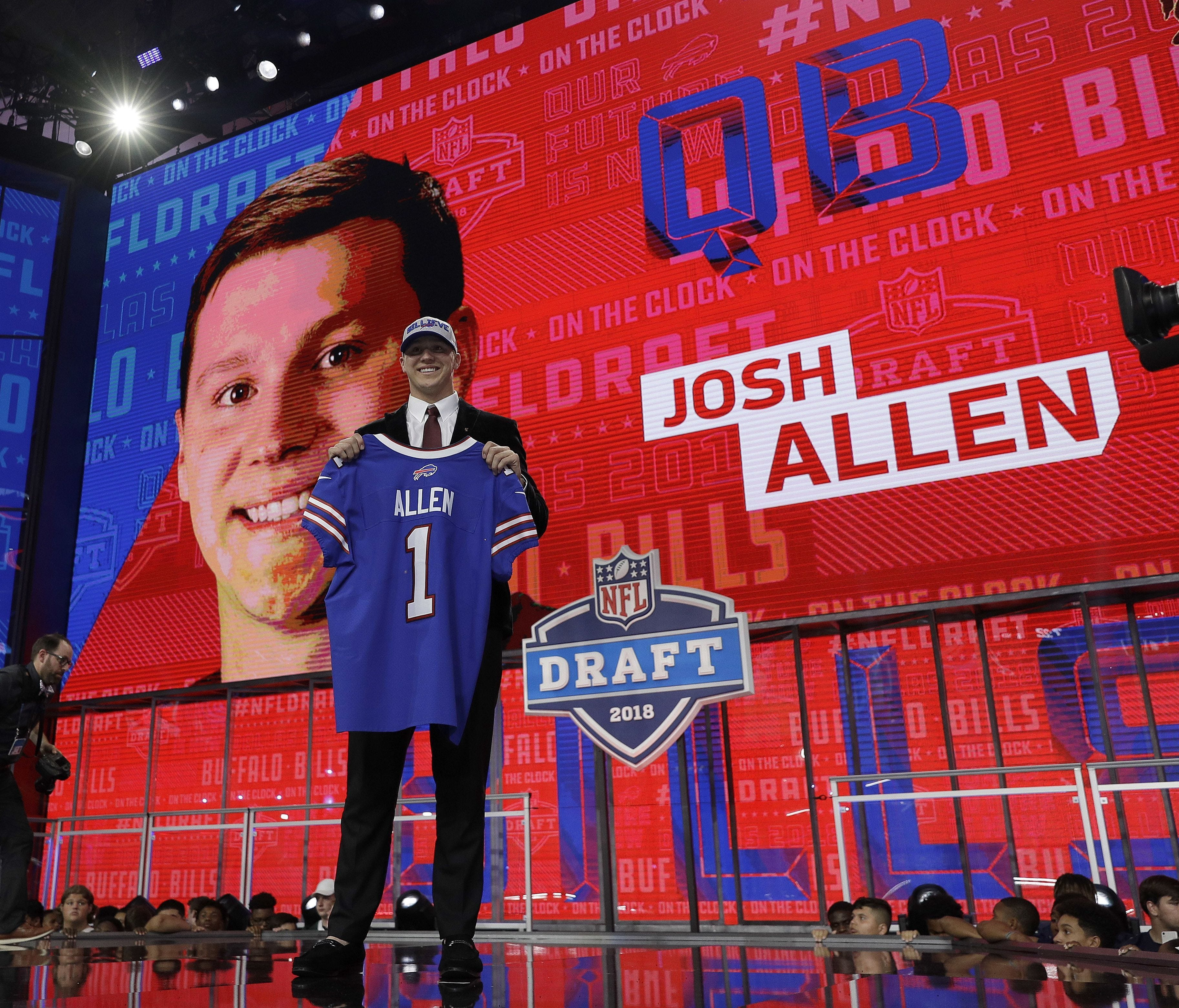 Wyoming QB Josh Allen was selected with the No. 7 overall pick by the Bills.