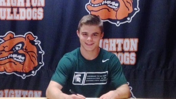 Brighton's Jackson Renicker signed his letter of intent