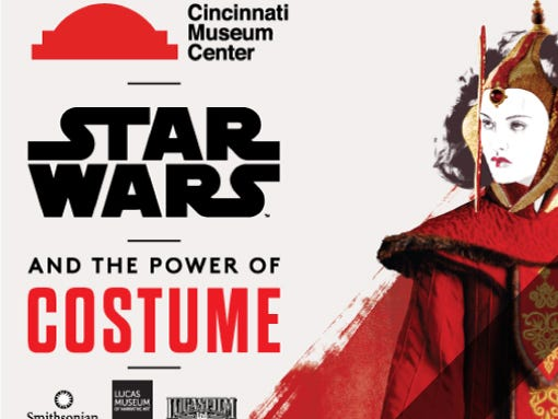 Xtras! Members receive $2 off Adult tickets to Star Wars and the Power of Costume. Valid through Oct. 1.