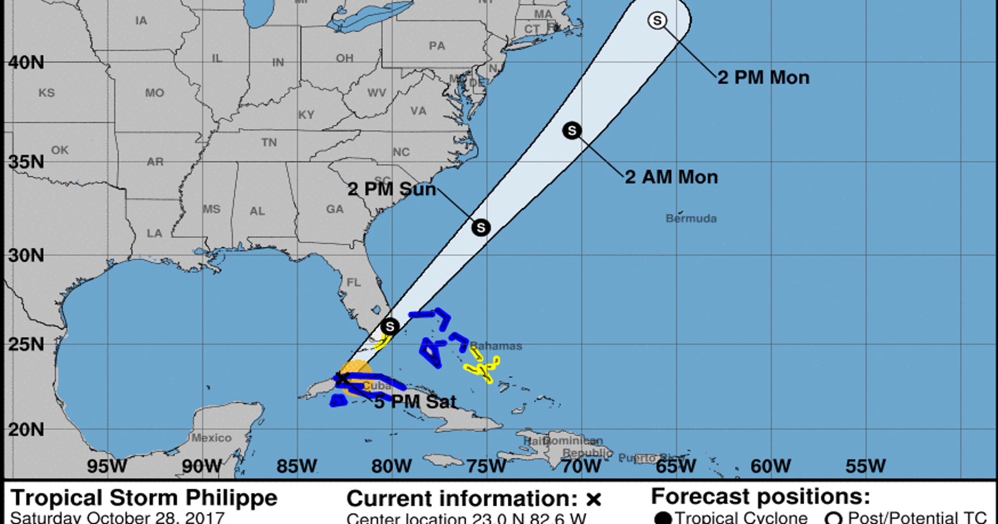 Tropical Storm Philippe Current Weather Radar For Naples
