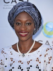 Activist Hafsat Abiola arrives  at the CAST 16th From Slavery To Freedom Gala at Skirball Cultural Center on May 29, 2014, in Los Angeles.